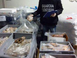 Taranto. Blitz della Guardia costiera. Sequestrate 2 tonnellate di prodotti ittici