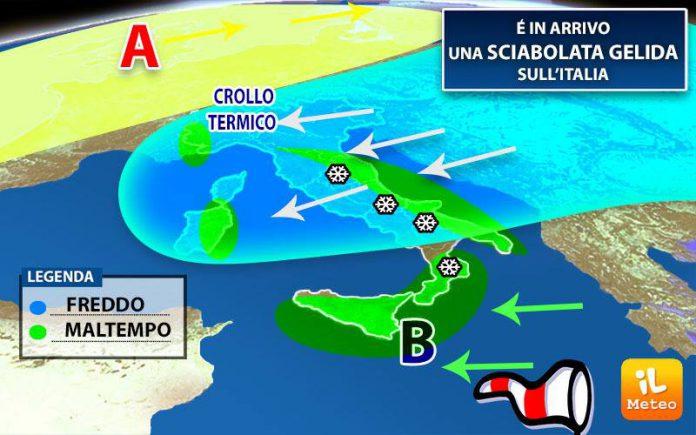Crollo delle temperature anche nelle province di Taranto
