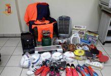 Arrestati a Taranto due giovani per furto indumenti sportivi