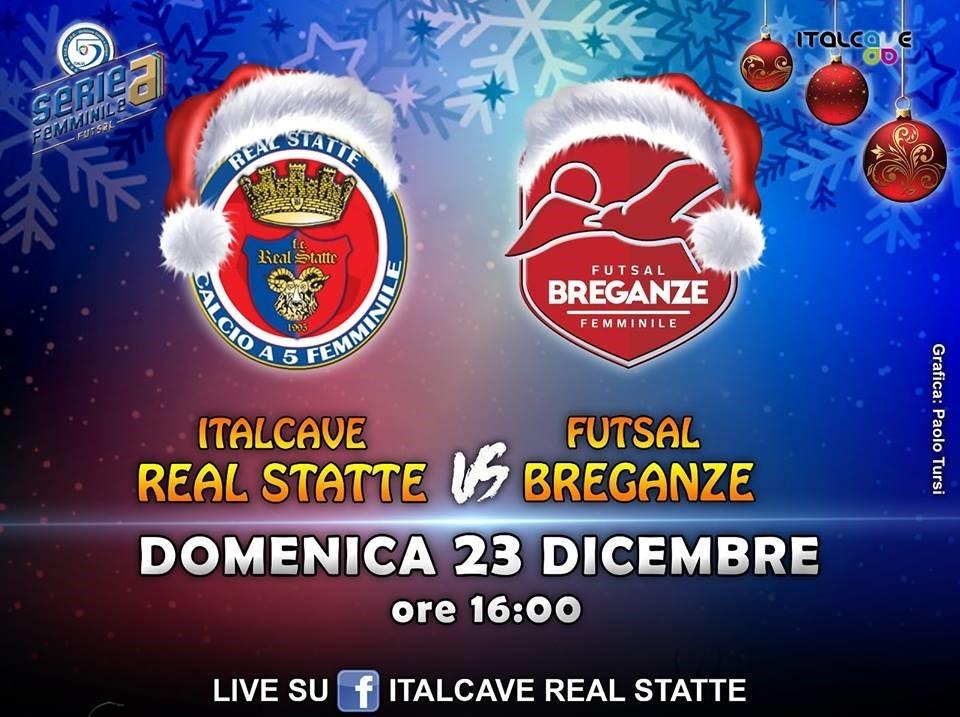 Italcave Real Statte contro il Breganze prima di Natale