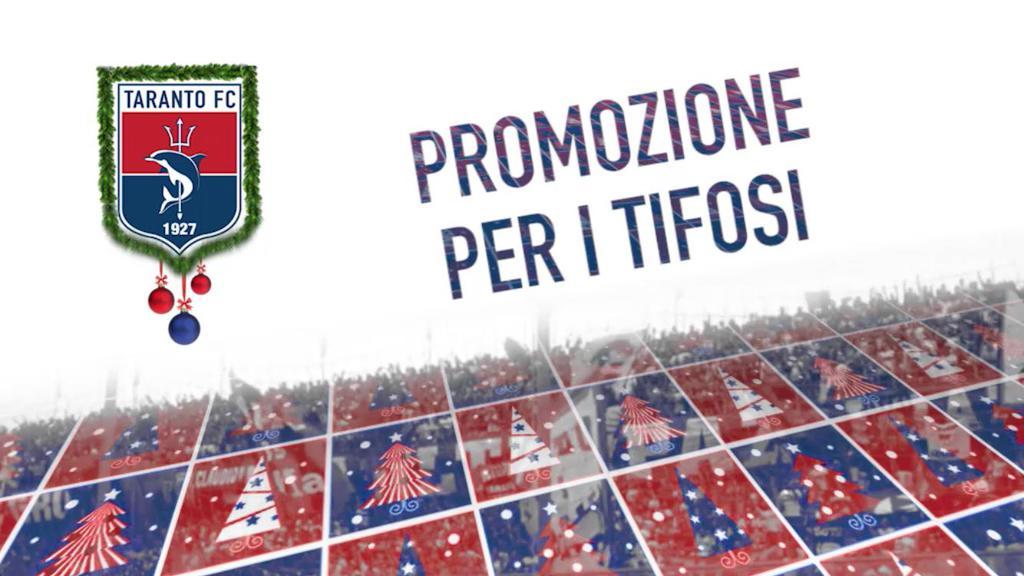Promozione natalizia per i tifosi del Taranto FC