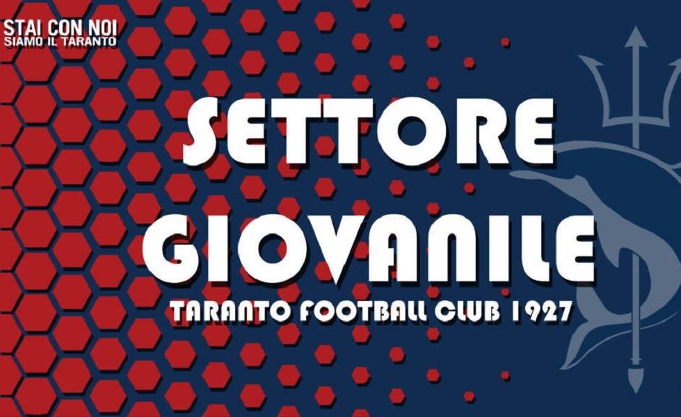 Settore Giovanile Taranto Calcio programma del weekend
