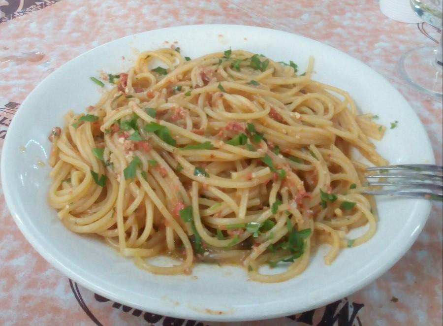Linguine ai ricci di mare piatto tipico di Ginosa
