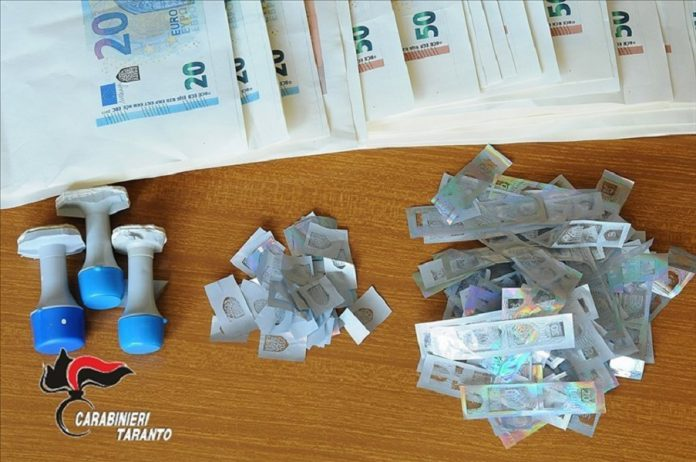 In manette tre persone di Laterza e Ginosa per falsificazione banconote