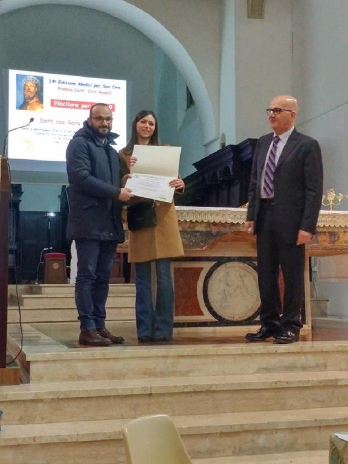 Premio di studio Ciro Rosati a Sara Sasso di Grottaglie