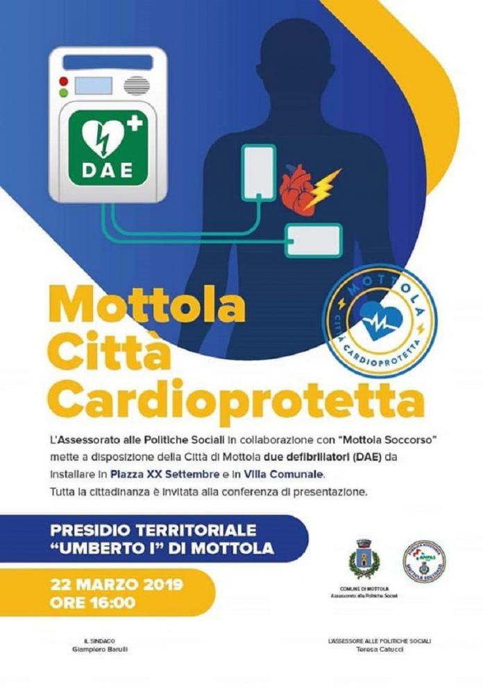 Defibrillatori installati a Mottola al servizio della comunità