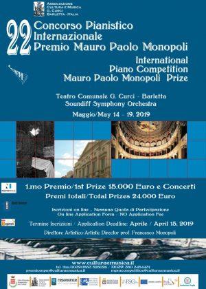 22° Concorso Pianistico Internazionale Premio Mauro Paolo Monopoli