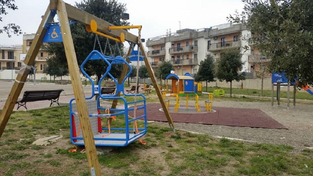 Un parco giochi a Mottola per disabili