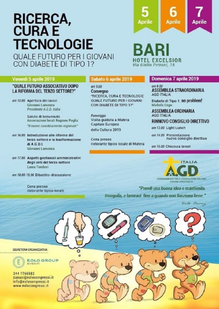 Convegno a Bari per discutere del diabete giovanile