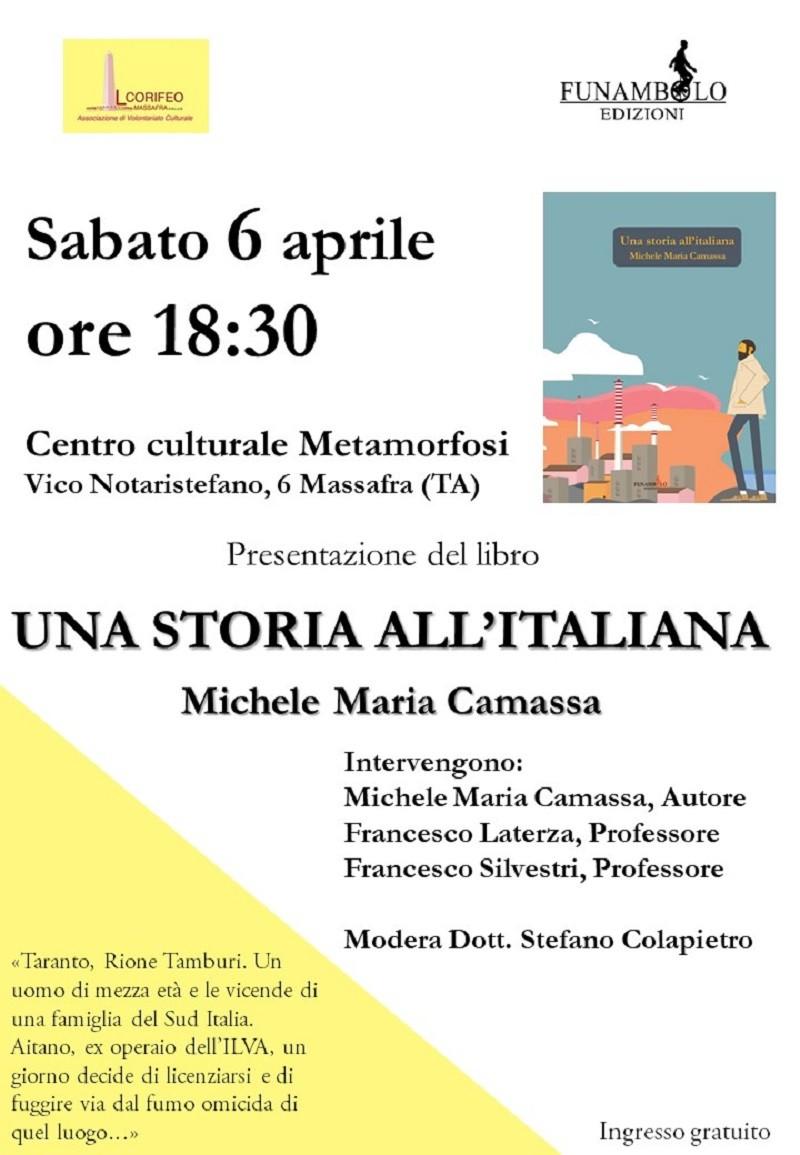 Presentazione a Massafra del libro Una storia all'italiana