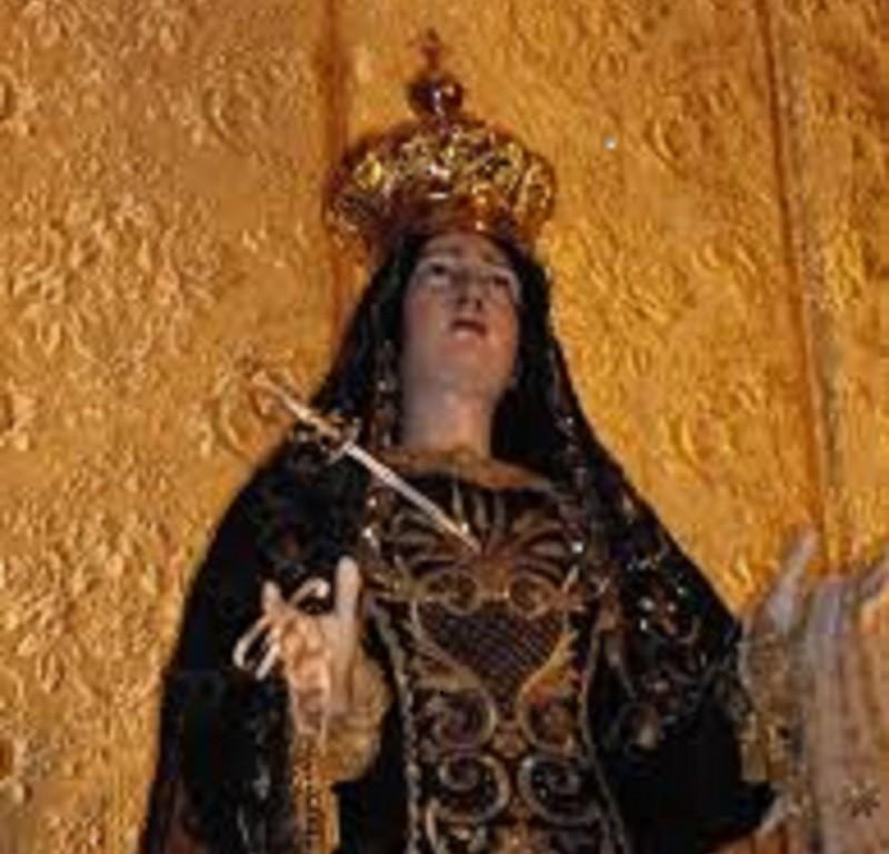 Restaurata a Castellaneta la Statua dell'Addolorata