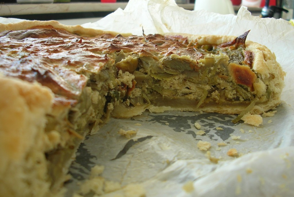 Ricetta torta di carciofi la prepariamo a Martina Franca