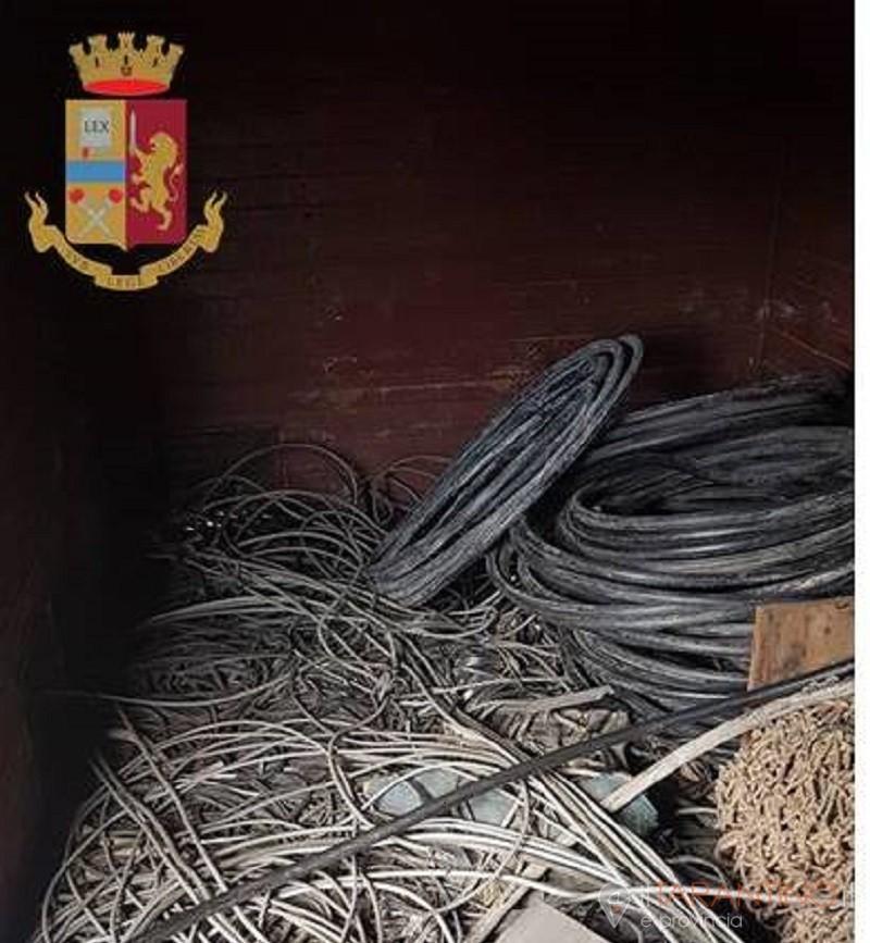 Recuperati 8 quintali di cavi di rame a Taranto