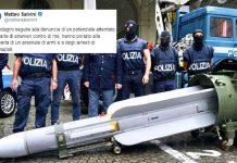 Minacce di morte Salvini Rinvenuto Missile Matra