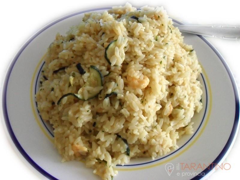 Ricetta risotto gamberi e zucchine ottimo anche freddo
