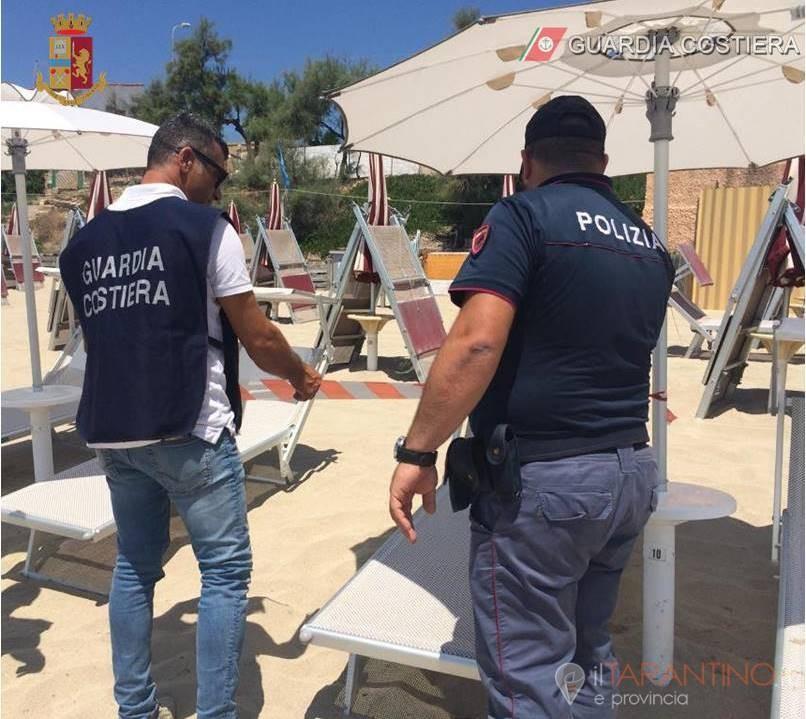 Sequestrati un ristorante e un lido balneare di Lizzano