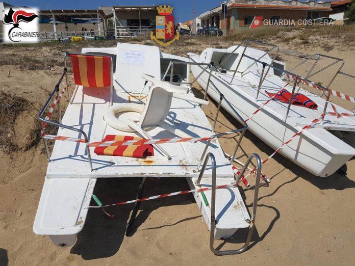 Fermata attività abusiva spiaggia San Pietro a Manduria