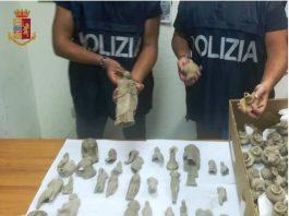 Reperti archeologici rinvenuti dalla Polizia di Stato a Taranto