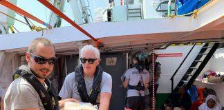 Richard Gere sulla Open Arms a Lampedusa