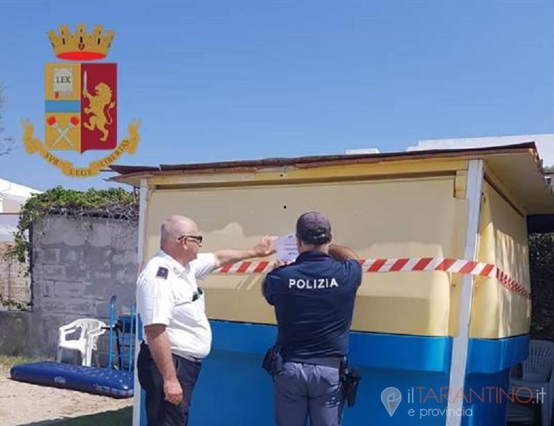 Denunce a Lizzano per varie illegalità. Chiuso un chiosco