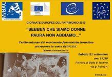 Mostra dell'Archivio Unione donne italiane a Taranto