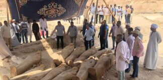 20 sarcofagi sigillati ritrovati a Luxor in Egitto