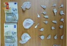 Pusher arrestato per detenzione ai fini di spaccio a Taranto
