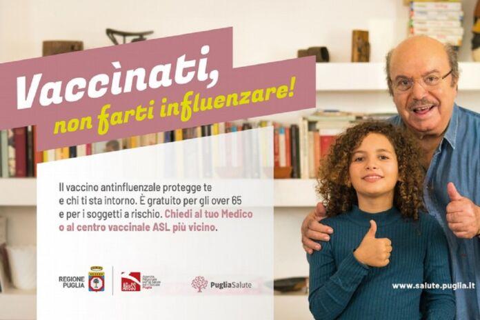 Campagna vaccinale in Puglia. Vaccinati non farti influenzare