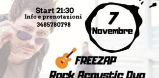 Freezap Rock Acoustic Duo in concerto al Noolas