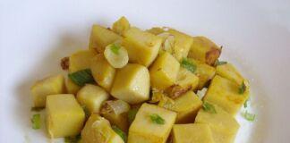 Ricetta polenta di ceci con cipollotti fritti