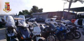 Sequestrati moto caschi e bauletti rubati a Taranto
