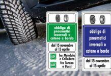 Obbligo catena da neve, corsa ai test pneumatici invernali