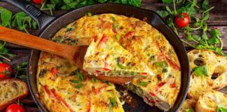 Frittata al Forno con verdure e pancetta
