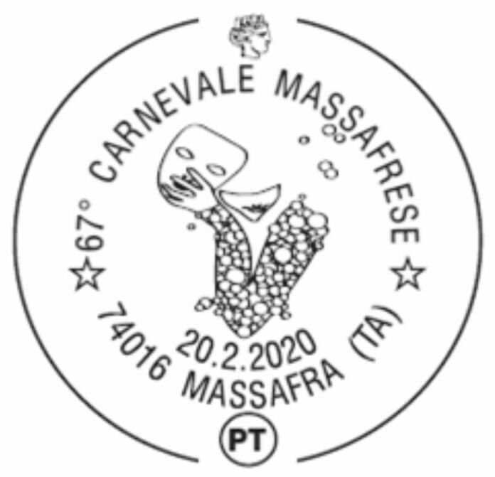 Annullo filatelico per il 67esimo Carnevale di Massafra