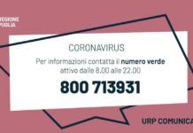 numero verde regionale per il Coronavirus in Puglia