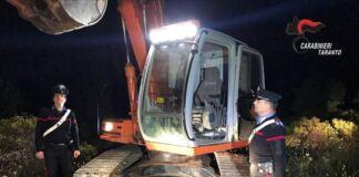 Mottola arrestato un uomo per il furto di alcuni mezzi pesanti