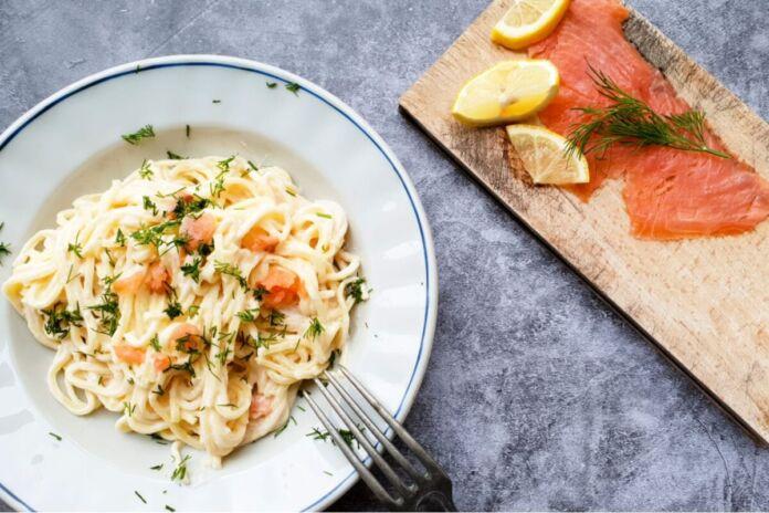 Spaghetti alla Chitarra con Salmone