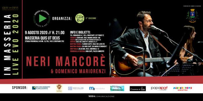 Neri Marcoré a Crispiano per Live in Masseria il 9 agosto