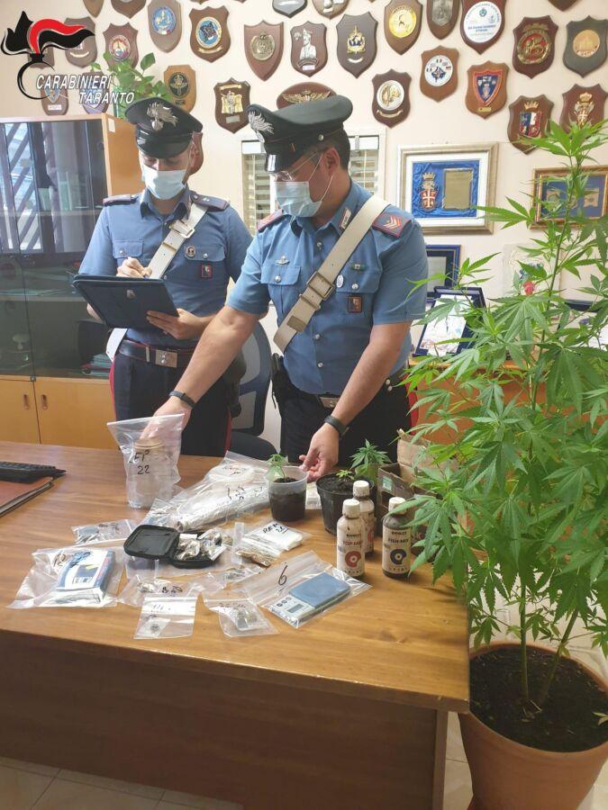 arresto per spaccio pulsano