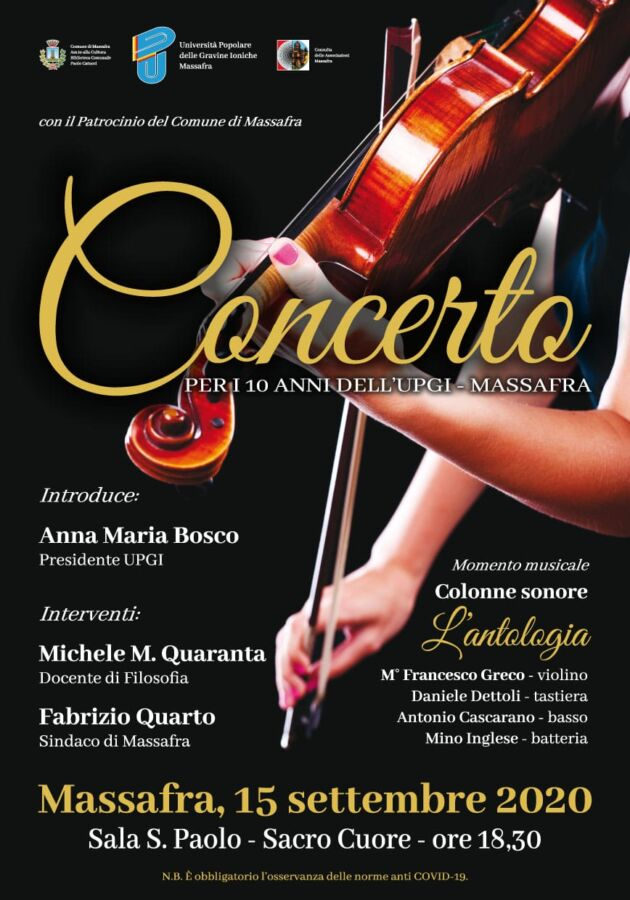 Locandina concerto UPGI