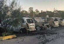 Taranto, ArcelorMittal: incendio distrugge 8 auto nel parcheggio portineria