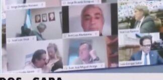 deputato argentino bacia seno compagna in diretta su zoom