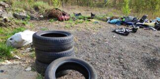 Mottola: volontari raccolgono pneumatici abbandonati