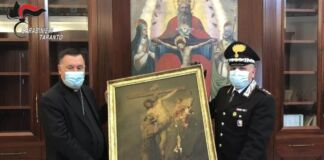 Castellaneta- restituiti al Vescovo oggetti sacri rubati