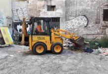 Taranto - intervento pulizia Via Paisiello