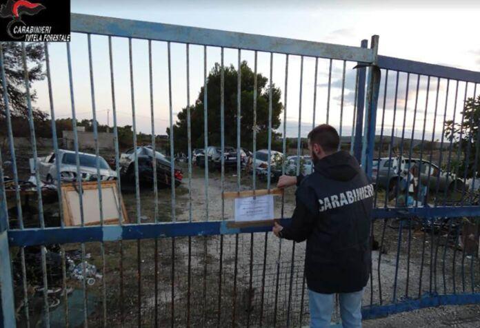 Sequestrata autodemolizione Castellaneta