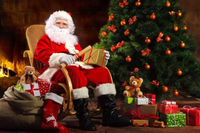 babbo natale arriva a palagiano