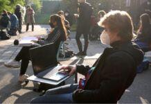 Taranto protesta studentesca contro rientro in presenza