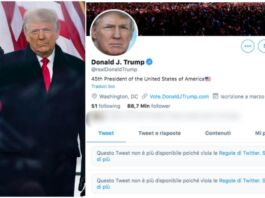 account di trump bloccato dai social