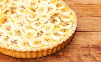 crostata alla crema e banane